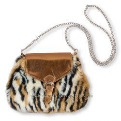 Меховая детская сумочка