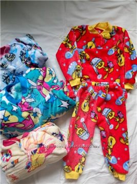 махровая пижама для девочки 98-104