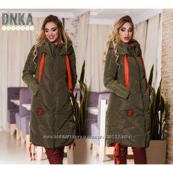 Куртка пальто женская зимняя холлофайбер