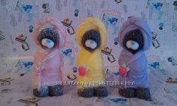 Натуральное мыло ручной работы Мишка Тедди в халате