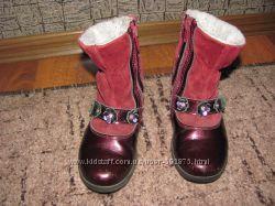 Кожаные ботинки котофей  размер  27 в хорошем состоянии
