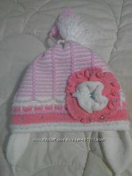 Польская теплая двойная шапочка для девочки