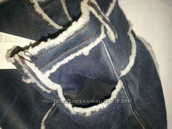 Шикарная кожаная юбка зимняя на цигейке D&G JUNIOR оригинал Италия