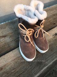 Ботинки теплые ЗАМШ 36-40р