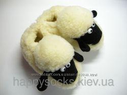 Чуни-тапочки-сапожки-носки для дома из овчины