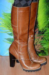 Сапоги кожаные на байке М48 качество люкс 38 39 40 41