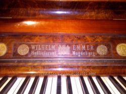 Антикварное пианино Wilhelm Emmer 1883 года 134 года