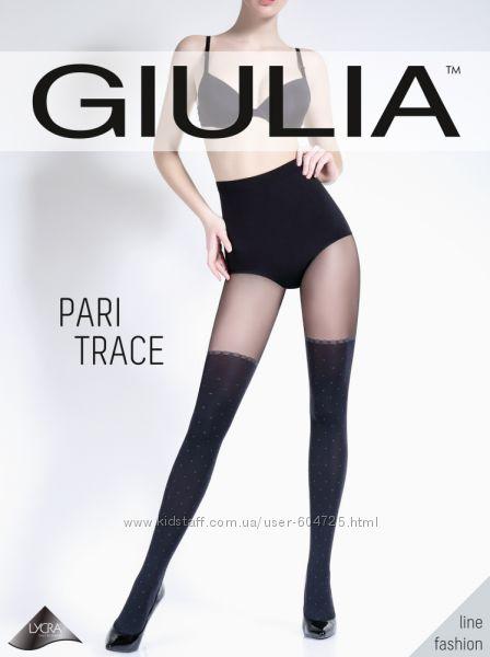 Модные колготки Giulia имитация чулков. Распродажа