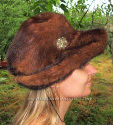 натуральная норковая шляпа 54 размер