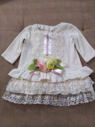 Дизайнерское велюровое платье Mone
