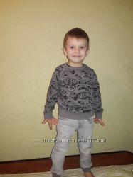 Стильний комплект кофта панда Next джинси George рост 104см