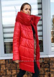 Куртка, пуховик зимний теплый красный