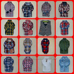 Много брендовых рубашек, шведок на разный возраст