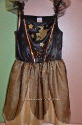 Карнавальное платье со шляпой на Хэллоуин или утренник, р. 5-6 лет
