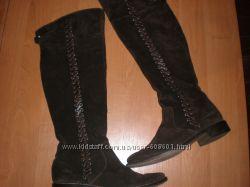 замшевые  ботфорты  Италия  размер  39  -  25. 5  см