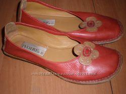 кожаные балетки  ф.  Ivoire  размер  38  -  25  см