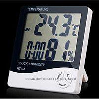 Метеостанция термометр часы гигрометр HTC-1 и HTC-2