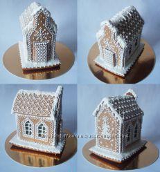 Пряничные домики из медового теста.