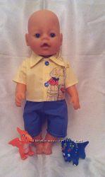 Рубашка и шорты для куклы BABY BORN ручной работы