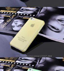 Прозрачный матовый чехол бампер iPhone 5