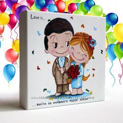 Картины маслом Любовь на День Святого Валентина