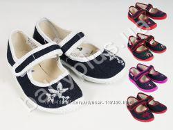 Тапочки туфли текстиль вельвет