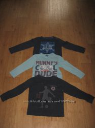 Регланы и футболки фирменные на мальчика 4-6лет.