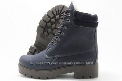 Ботинки женские Vaslav 1677 зимние темно-синие