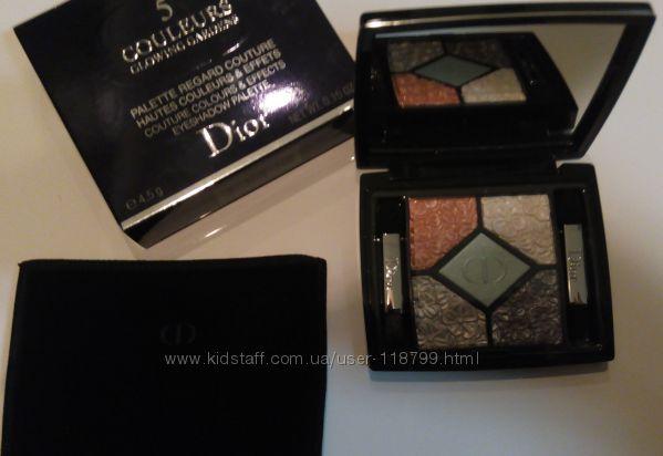 Пятерка теней Dior Glowing Gardens лимитка Blue Garden 031