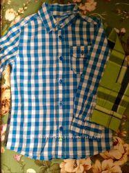 Коттоновые рубашки в клетку Esprit 104-110 см.