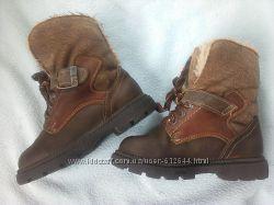 Ботинки 26-27, 17 см мех зимние нубук Германия