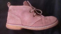 Ботинки 38-39, 25 см оксфорды замш, тёплые, флис, Германия ESPRIT