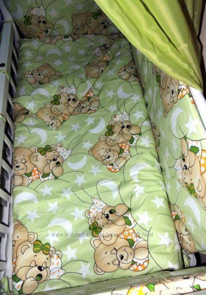 Детское постельное белье Мишки, 9 предметов