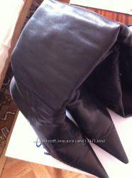 Высокие зимние сапоги ботфорты в хорошем состояни