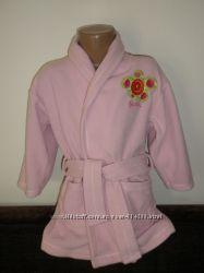 Для девочки  махровый, флисовый халат