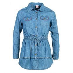 Джинсовая рубашка для девочек Glo-story 128р