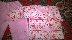 Розовая мягенькая пижамка девочке на 12-18 мес 80-86 см