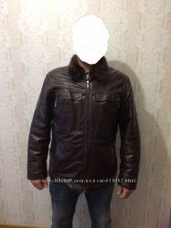 Кожаная зимняя куртка. Цену снизила