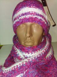 Комплект женский шапка шарф.