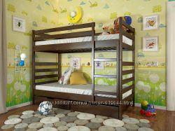 Деревянные двухярусные кровати. Бесплатная доставка.
