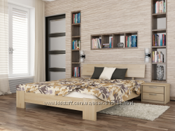 Деревянная кровать Титан.  Разные размеры. Бесплатная доставка.