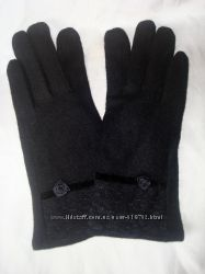 Кашемировые теплые женские перчатки на меху