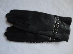 Женские кожаные перчатки, плюш