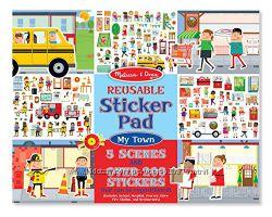 Альбом с наклейками Melissa & Doug Reusable Sticker Pad Bundle - Town
