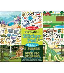 Альбом с наклейками Melissa & Doug Reusable Sticker Pad Bundle - Habitats