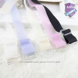 Матовые силиконовые бретели для бюстгальтера 5 цветов