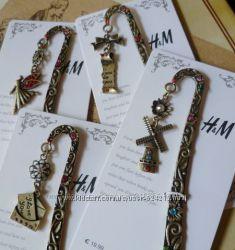 Винтажные гравированные закладки H&M с кристаллами для книг и блокнотов