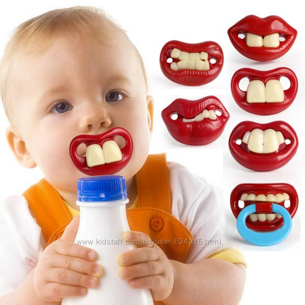 Креативные и забавные соски пустышки зубы 7 видов