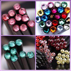 Оригинальный и модный простой карандаш черного цвета с кристаллом 10 цветов