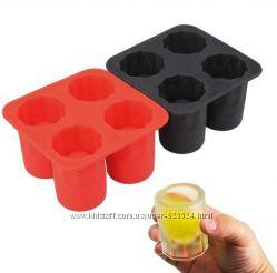 Формочки для льда Ледяная рюмка-стопка силиконовые 1001519